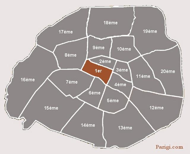Parigi Cartina Arrondissement.Mappa Conciergerie Parigi Com