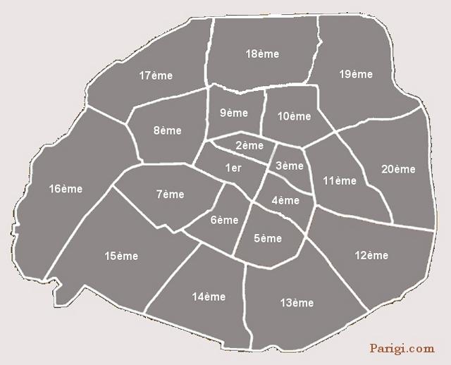 Arrondissement E Quartieri Di Parigi